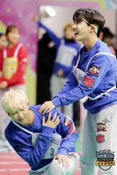 Rap Monster and J-Hope | 2016 Idol Star Athletics Championships