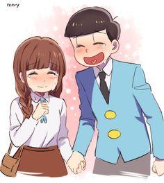 "Country Girl and Jyushimatsu     Osomatsu-san 1x09 ""Jyushimatsu Falls in Love"" Fan Art by 잡덕왕☞mery☜ on Twitter"
