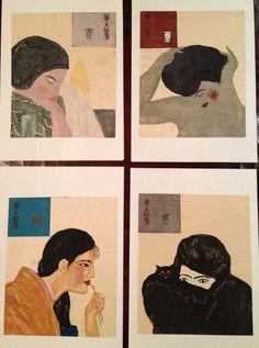 Koshiro Onchi, The Four Seasons, 1927, woodblock print