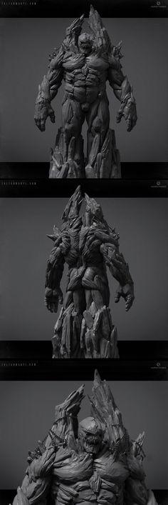 Golem by Zoltan Manyi 1000px X 2997px
