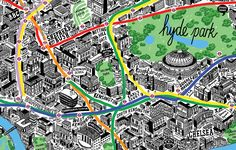 Hand Drawn Map of London - Jenni Sparks
