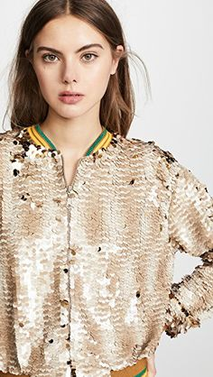 Sparkly Silver Bomber Jacket