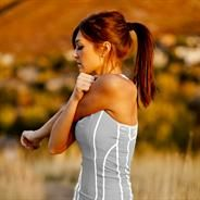 omg, I adore this fitted workout tank from albionfit.com....so feminine!!!
