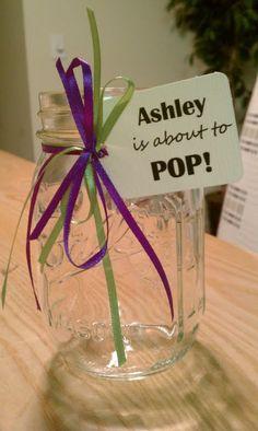 Decorated mason jar for diaper raffle tickets! @Reb
