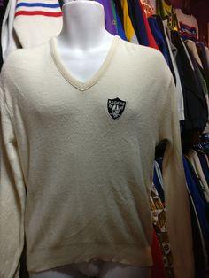 Vintage 80s LOS ANGELES RAIDERS NFL Sweater M