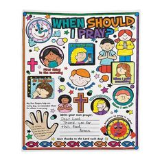 """Color Your Own """"When Should I Pray?"""" Posters 