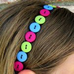 50 + Headbands to make, button headband = stretchy bands available at Target
