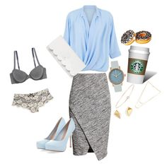 """""""New York"""" by fullmoonandstars on Polyvore featuring Mode, H&M, Blue Vanilla, Void, Loren Stewart, Kate Spade, American Eagle Outfitters, Wet Seal und Gorjana"""