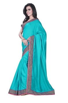 Blue Sarees‬ @ 1650. Bhagalpuri Saree With Embroidary Border