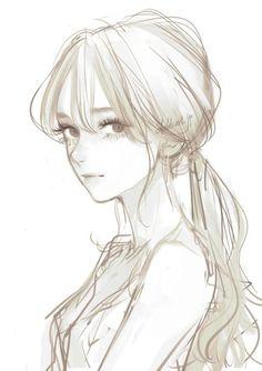 Anime Drawings Sketches, Anime Sketch, Manga Drawing, Manga Art, Cute Drawings, Art Anime, Anime Art Girl, Manga Anime, Aesthetic Anime