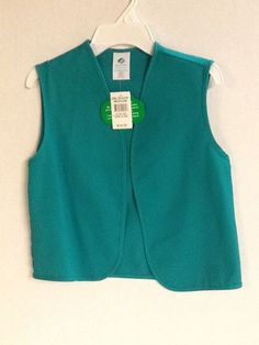 Girl Scouts Jr Vest Size Green Size Medium and X Large New! #GirlScouts #Vest