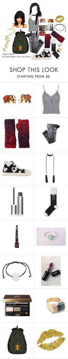 """""""Blake Gutierrez 3"""" by stockmon ❤ liked on Polyvore featuring Topshop, Michael Stars, Play Comme des Garçons, Givenchy, Dr. Martens, Kat Von D, Essentia By Love Lily Rose, NYX, Bobbi Brown Cosmetics and J.Crew"""