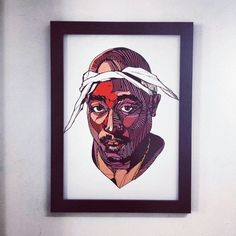 LUKE DIXON - TUPAC - LIMITED EDITION A3 #thebearhugco #tupac #classics Black Wood, Limited Edition Prints, Art Education, A3, Printmaking, Original Artwork, Spiderman, Art Drawings, Superhero