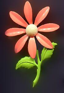 Colorful 1960's Enamel Flower Pin