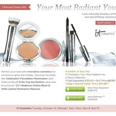 """IT Cosmetics """"Your Most Radiant You"""" QVC TSV details"""