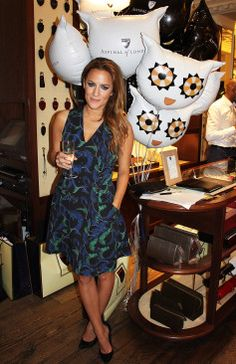 Caroline Flack at Brook Street's Aspinal Store for Aspinal of London's Lending Lounge event