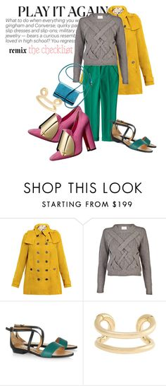 """Keep on colorblocking"" by kallfri ❤ liked on Polyvore featuring Burberry, Proenza Schouler, 3.1 Phillip Lim, Yves Saint Laurent, Rochas, Lanvin, Giles & Brother and tmagazine.blogs.nytimes.com"