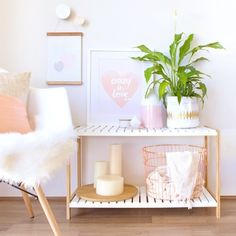 Beautiful Jimmy Stand styling by oh.eight.oh.nine. Blush And Copper Bedroom, Room Decor Bedroom Rose Gold, Rose Gold Wall Decor, Peach Bedroom, Rose Decor, Pastel Room Decor, Pastel Bedroom, Rose Gold Rooms, Blush Bedroom