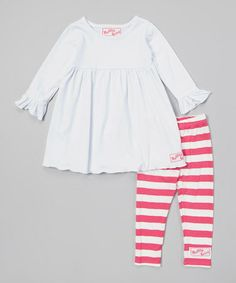 Another great find on #zulily! Pink & White Dress & Leggings - Infant, Toddler & Girls #zulilyfinds