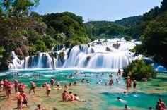 "Wonderful natural pool ""Skradinski Buk"", Krka National Park, Croatia"