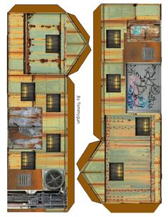 Andys Armies: paper terrain buildings, billboards and bits