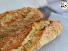 No-knead french baguettes, Recipe Petitchef Pain Sans Gluten Au Thermomix, Baguette Express, My Favorite Food, Favorite Recipes, Bread Recipes, Cooking Recipes, Bratwurst Recipes, Vegan Bread, Date Dinner