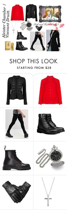 Viscount Druitt / Aleister Chamber ( Modern AU ) by dreamyoutcast on Polyvore featuring Brooklyn Supply Co., Dr. Martens, Paco Rabanne, Frapp, Boohoo, Primrose, Victoria's Secret, modern, men's fashion and menswear