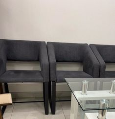 Guest office visitors armchair Dining Bench, Armchair, Couch, Grey, Furniture, Home Decor, Sofa Chair, Homemade Home Decor, Sofa