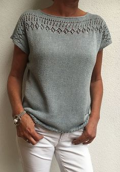 Lace Knitting Patterns, Knitting Designs, Crochet Top Patterns, Summer Knitting, Free Knitting, Knitted Jackets Women, Knit Crochet, Fashion Wear, Hobbies