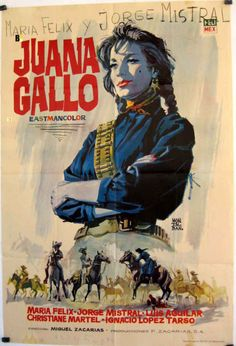 "The Guns of Juana Gallo ""Juana Gallo"" (original title) The true life's story of Juana Gallo, a woman who rose to become one of the leaders of the Mexican revolution. Old Movies, Vintage Movies, Vintage Posters, See Movie, Film Movie, Gerard Philipe, Yves Montand, Westerns, Mexican Revolution"