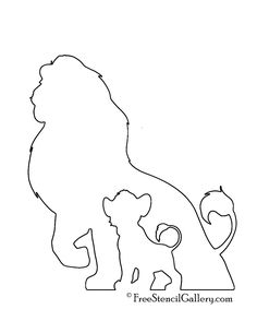 coloring pages - Lion King Stencil Lion King Drawings, Lion King Art, Lion King Tattoos, Lion King Crafts, Disney Tattoos, Disney Drawings, Art Drawings, Simple Drawings, Disney Canvas Art