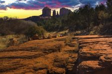 Sunset Image of Cathedral Rock. Sedona, Arizona