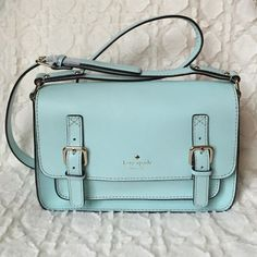 kate spade new york Essex Scout Crossbody CY Blue kate spade new york Essex Scout Crossbody CY Blue.                                Small crossbody Leather with designer logo and buckle details at front Adjustable strap Flap opening with hidden magnetic closures and slip pocket underneath Signature woven lining with a zip pocket Body length 10¼ inches; height 6½ inches; width 3 inches Strap drop 22 inches  Material: Leather  Brand: kate spade new york kate spade Bags…