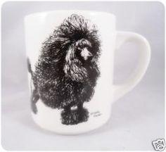 Black Show Poodle Mug Cup Tea coffee Cindy Farmer Artist Dog