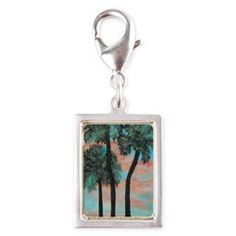 TROPICAL PALMS SUNSET Charm