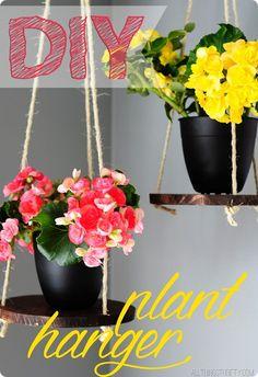 Easy DIY plant hanger!
