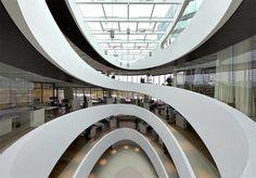 Spiral atrium, 'Cocoon' by Camenzind Evolution, photo by Nick Brändli