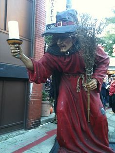 Salem, Massachusetts at Halloween - It's called Haunted Happenings and it is awesome, zillions of haunted houses, haunted hayrides, haunted corn field mazes, candlelit ghost tours, witch trial dinner shows, you name it!