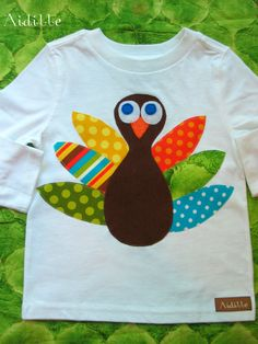 Turkey Shirt-- this would be a fun project to make for Thanksgiving!