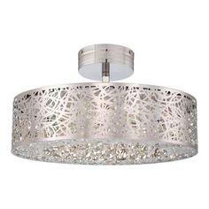 Hidden Gems LED Semi Flush Ceiling Light