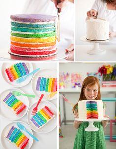 Rainbow cake! Amazing!
