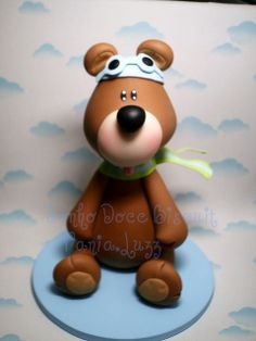 pic: teddy bear pilot porcelana fria polymer clay pasta francesa masa flexible fimo modewlado modelling figurine
