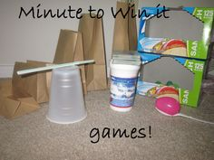 Minute to Win it games, party games, birthday party games