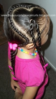Love Your Girls Biracial Curls: Valentine's Heart Hairstyle For Girls