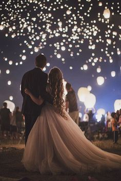Wedding Sky Lanterns are a growing trend in wedding exits. Take amazing wedding .Wedding Sky Lanterns are a growing trend in wedding exits. Take amazing wedding pictures during your wish lantern wedding sendoff. Wedding Exits, Wedding Goals, Wedding Ceremony, Wedding Planning, Wedding Themes, Budget Wedding, Wedding Venues, Wedding Decorations, Wedding Dresses