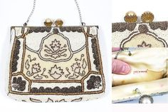 Antique French MICRO BEAD PURSE BAG CLUTCH Filigree Nested Mabe Pearl Snap | Clothing, Shoes & Accessories, Vintage, Vintage Accessories | eBay!