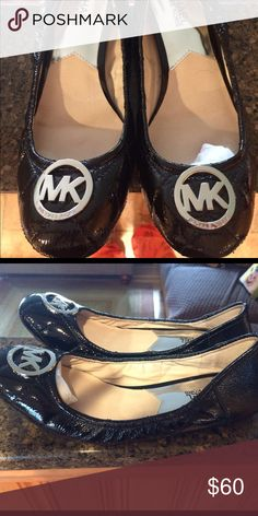 Michael kors flats Patent leather Micheal kors flats size 8.5 worn only once in great condition Michael Kors Shoes Flats & Loafers