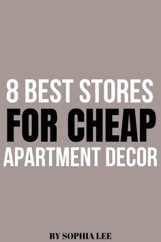 obsessed with these stores for cheap apartment decor! I've found so many good items that look expensive. can't wait to decorate!