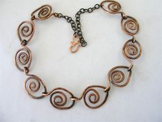 Hand forged Copper Necklace with Patina | LindaSudimack - Jewelry on ArtFire $110