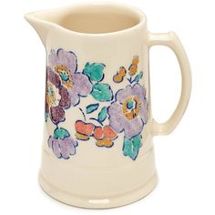 Liberty Flowers Betsy Liberty Print Jug ($29) ❤ liked on Polyvore featuring home, kitchen & dining, serveware, fillers, kitchen, items, other, dishes, microwave safe dishes and microwave safe dish